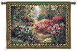 Along the Garden Path Wall Tapestry by Alix Stefan