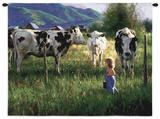 Anniken y las vacas Tapiz por Robert Duncan