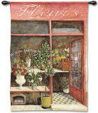 Au Bon Jardin Wall Tapestry by Fabrice De Villeneuve