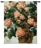 Geraniums Wall Tapestry by Joyce H. Kamikura