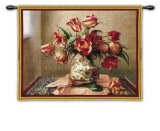 Tulips in Oriental Vase Wall Tapestry by Jennie Tomao-Bragg
