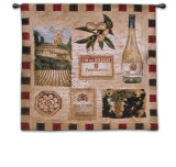 Wine Land II Wall Tapestry by Elizabeth Jardine