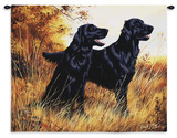 Flatcoat Retreiver Wall Tapestry by Robert May