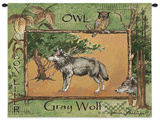 Grey Wolf Wall Tapestry by Anita Phillips