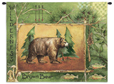 Brown Bear Wall Tapestry by Anita Phillips