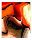 Bright Earth Tone Abstract Photographic Print by Teo Alfonso