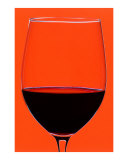 Red Wine Glass Photographic Print by Frank Tschakert