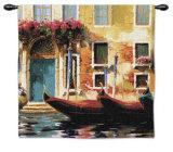 Venetian Gondolas I Wall Tapestry by Marcelo Silva