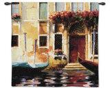 Venetian Gondolas II Wall Tapestry by Marcelo Silva