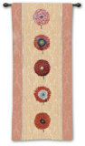 Floating Botanical: Apricot Wall Tapestry