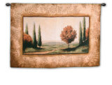Cypress Vista II Wall Tapestry by Mark St. John