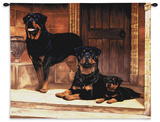 Rottweiler Wall Tapestry by Robert May