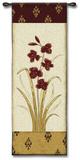 Kimono Orchid Crimson I Wall Tapestry by  Regina-Andrew Design