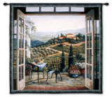 Balcony View of the Villa Wall Tapestry by Barbara R. Felisky