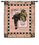 Grapes and Labels IV Wall Tapestry