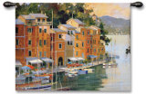 Portofino View Wall Tapestry by Marilyn Simandle