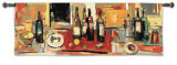 Vin Rouge Panel Wall Tapestry by Jay Li