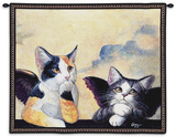 Cherub Cats Wall Tapestry by Melinda Copper