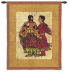 Native Sisters Wall Tapestry by Lydia Dillon-Sutton