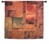 Visual Pattern I Wall Tapestry by Linda Thompson
