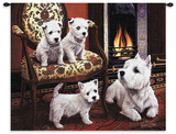 Westie Wall Tapestry by Robert May