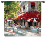 Corner Cafe II Wall Tapestry by Brent Heighton