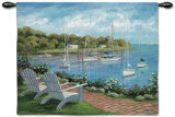 Harborside Reflect Wall Tapestry by Carol Saxe