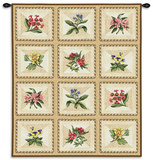 French Floral Wall Tapestry by Lacy Vance