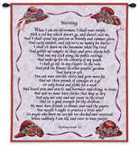 Warning Wall Tapestry by Jenny Joseph
