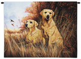 Yellow Lab Wall Tapestry by Robert May