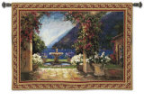 Seaside Fountain Wall Tapestry