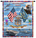 Navy Sea Power Wall Tapestry