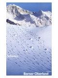 Berner Oberland Ski Giclee Print