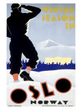 Winter Snow Season, Oslo, Norway Giclee Print