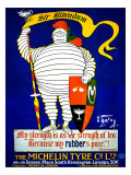 Sir Bibendum Michelin Tire Giclee Print