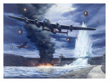 Lanaster Dam Buster Bomber Aviation Giclee Print by Carlos Garcia