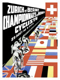 Zurich Berne Bicycle Championship Poster Stampa giclée