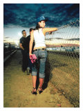 Pin-Up Girl: Raceway and Heels Giclee Print by David Perry