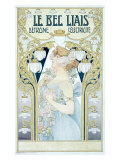 Art Nouveau Detrone Electric Lamp Giclee Print