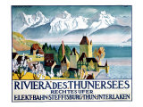 Lake Thunersee, Alpine Resort Giclee Print
