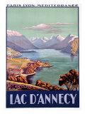 PLM Railroad, Lake d'Annecy Giclée-Druck