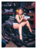 Pin-Up Girl: Hot Rod Cigarette Giclee Print by David Perry