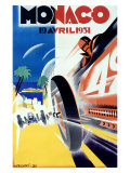 Monaco Grand Prix Formula 1, c.1931 Reproduction procédé giclée