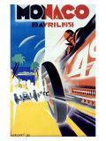 Monaco Grand Prix Formula 1, c.1931 Wydruk giclee
