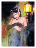 Pin-Up Girl: Munsters Vampiress Giclee Print by David Perry