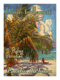 Relax in Hawaii Pacific Airlines Giclée-tryk af Rick Sharp