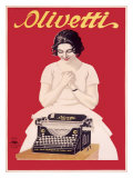 Olivetti Office Typewriter Giclee Print
