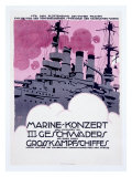 WWI, German Kriegsmarine Destroyer Giclee Print