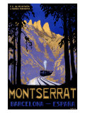 Montserrat Barcelona Spain Giclee Print