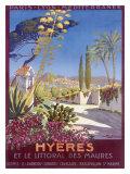 Hyeres French Riviera Beach Resort Poster Lámina giclée por Georges Dorival